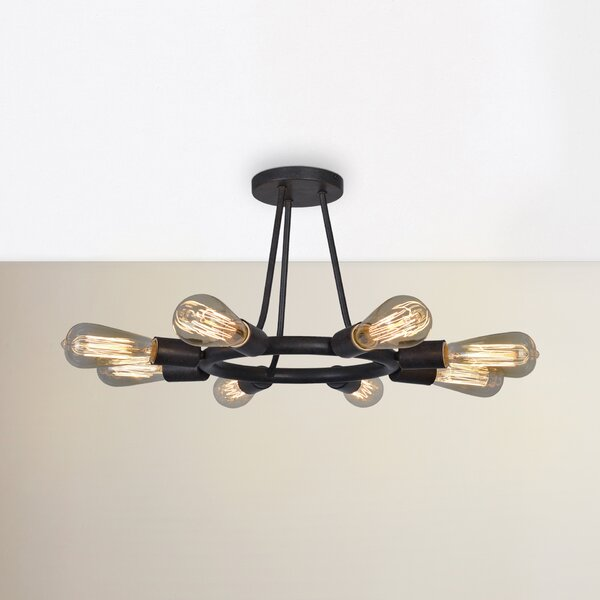 Flower Hill 8-Light Semi Flush Mount by Corrigan S