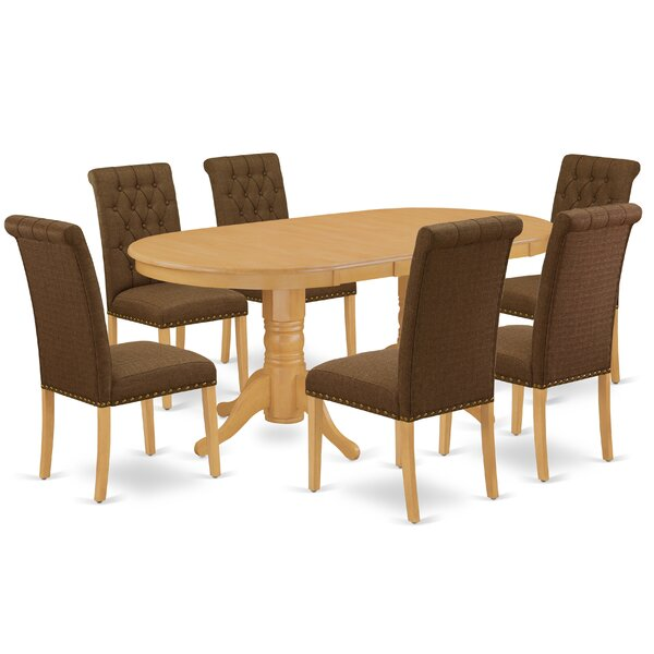Djerf 7 Piece Extendable Solid Wood Dining Set by Winston Porter Winston Porter