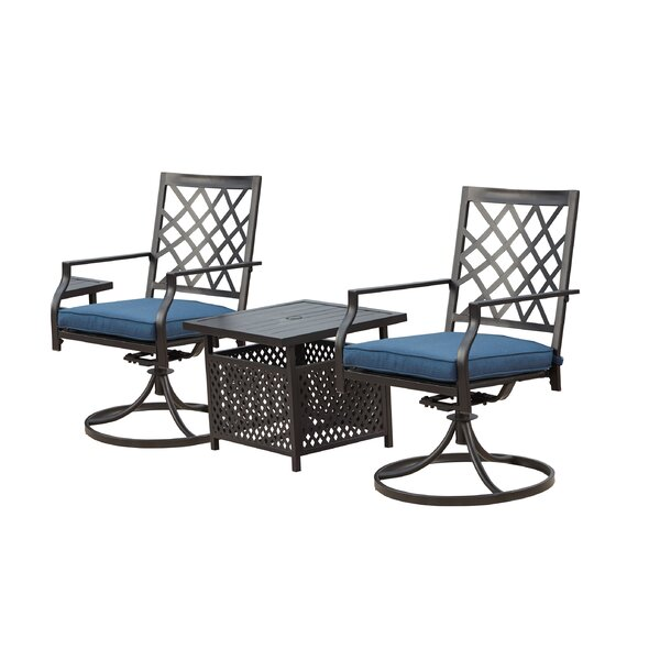 Call 3 Piece Dining Set with Umbrella by Red Barrel Studio