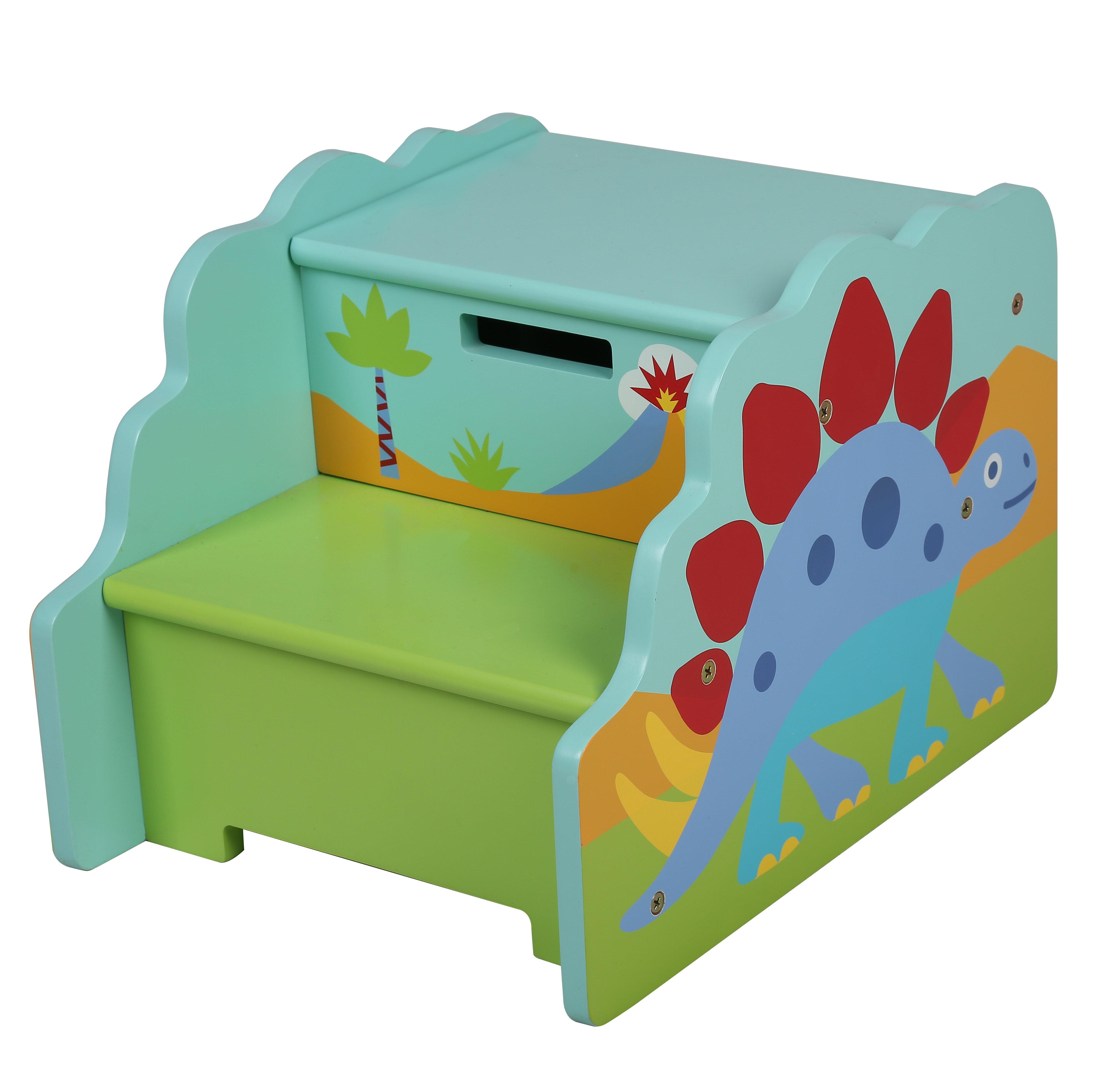 Olive Kids Olive Kids Dinosaur Step \'n Store Step Stool with Storage ...