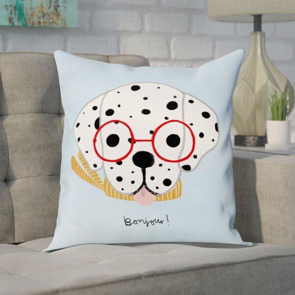 Christal Bonjour Spots Throw Pillow by Brayden Studio