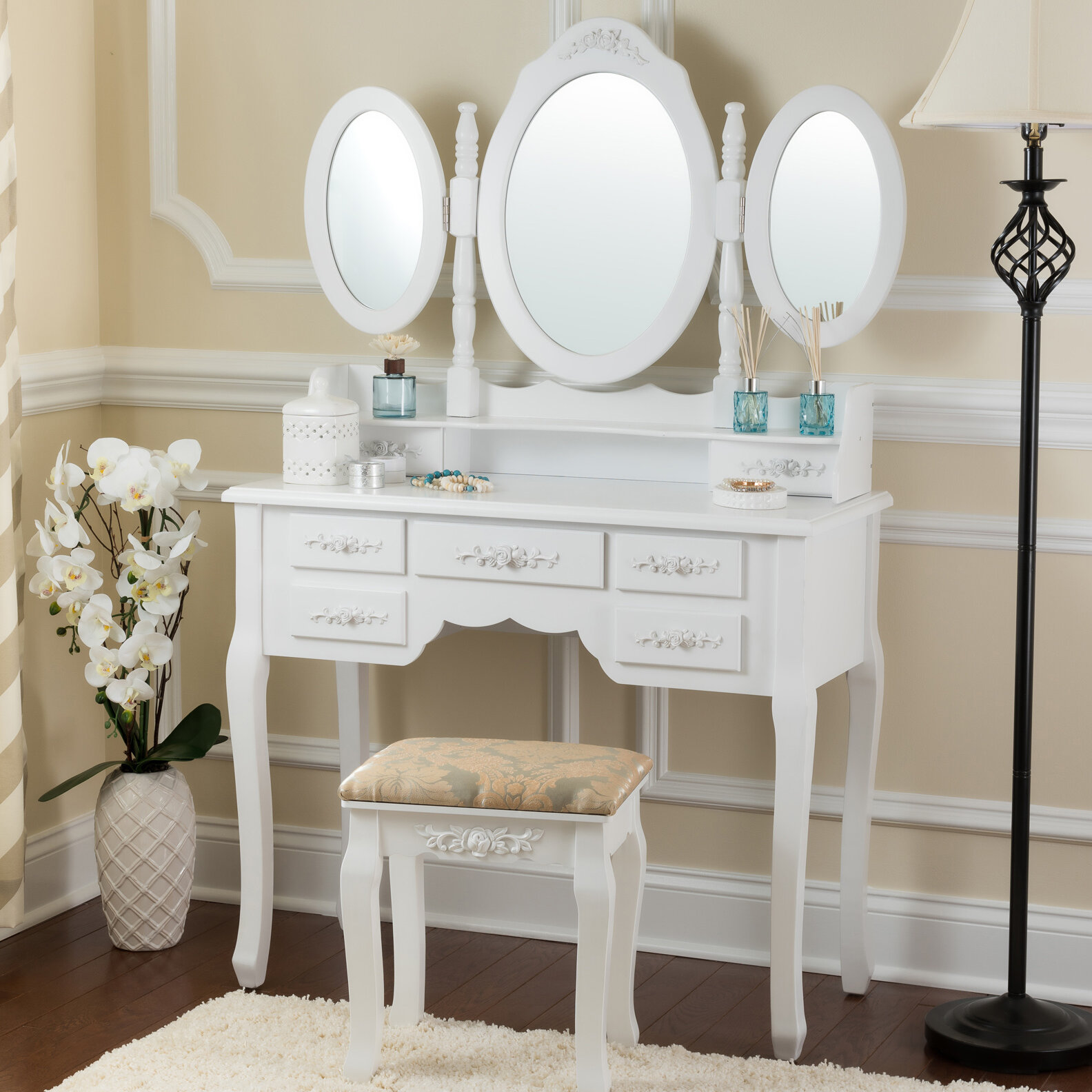Merveilleux Astoria Grand Bensenville Vanity Set With Mirror U0026 Reviews | Wayfair