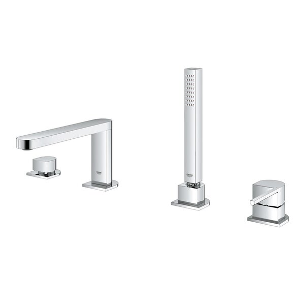 Plus Single Handle Deck Mounted Roman Tub Faucet Trim with Diverter and Handshower by GROHE GROHE