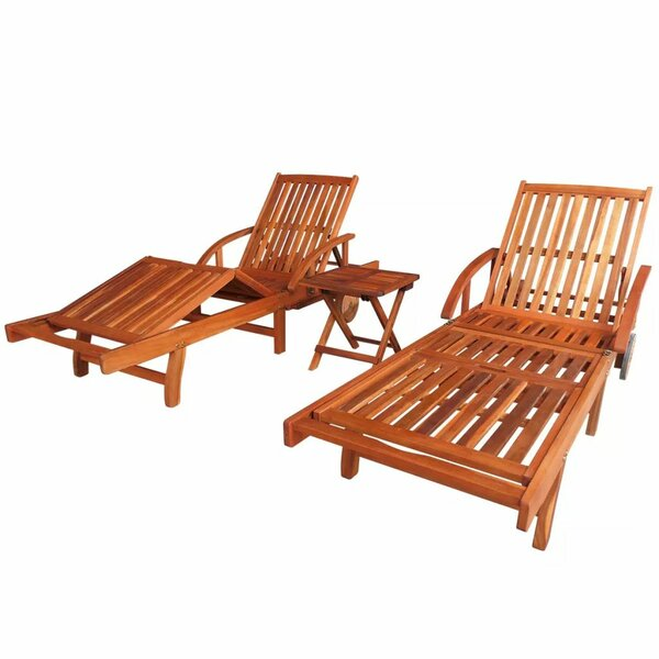 Villalpando Sun Lounger Set with Table by Highland Dunes Highland Dunes