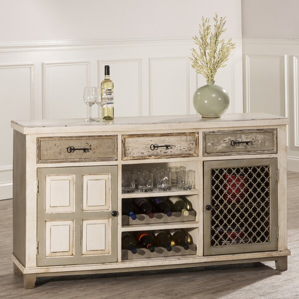 Zettie Bar Cabinet with wine storage by August Grove