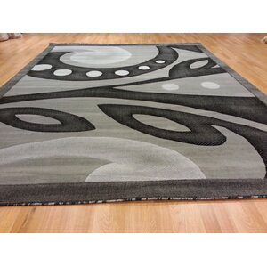 Hand-Carved Gray Area Rug