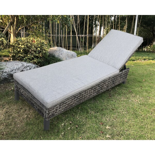 Begaye Outdoor Reclining Chaise Lounge with Cushion by Darby Home Co