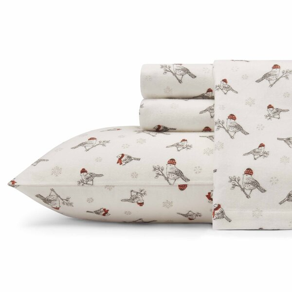 Frosty Finch Flannel Sheet Set by Eddie Bauer