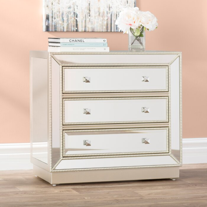 Primm Mirrored 3 Drawer Chest
