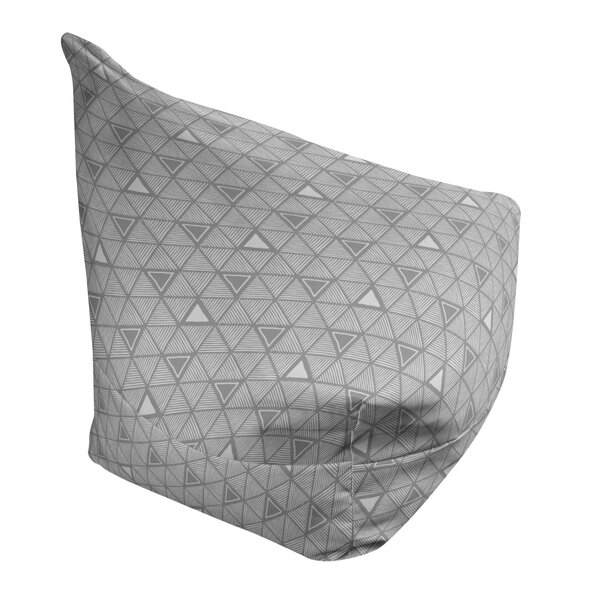 Classic Hand Drawn Triangles Bean Bag Cover By East Urban Home
