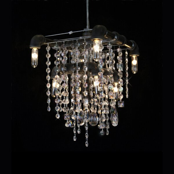 Norval 9 - Light Unique / Statement Tiered Chandelier by 17 Stories 17 Stories
