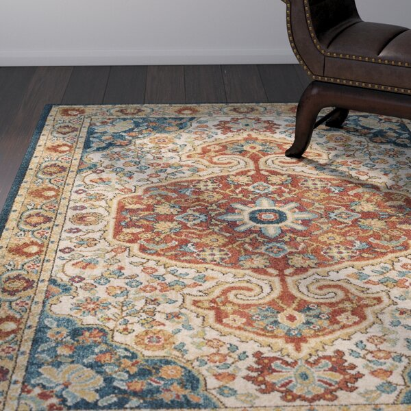 Naranjo Market Traditional Burnt Orange Area Rug by World Menagerie