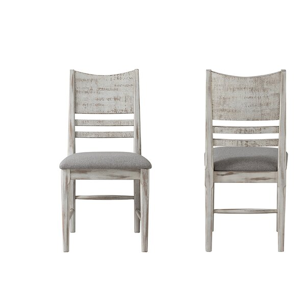 Bemadette Rustic Panel Back Side Chair (Set of 2) by Gracie Oaks