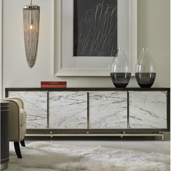 Melange Sora 4 Door Credenza by Hooker Furniture