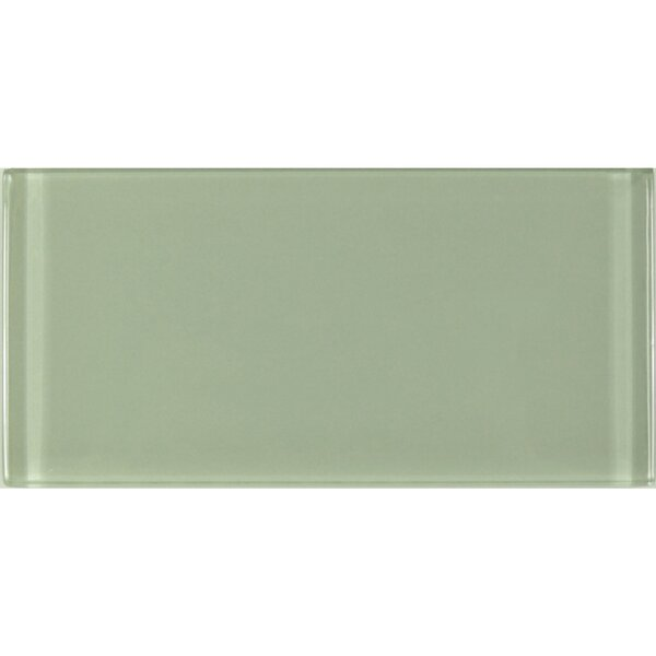 Metro 3 x 6 Glass Subway Tile in Green by Abolos