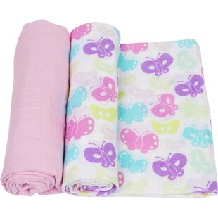 Compare & Buy Butterflies 2 Piece Swaddle Blanket Set ByMiracle Blanket