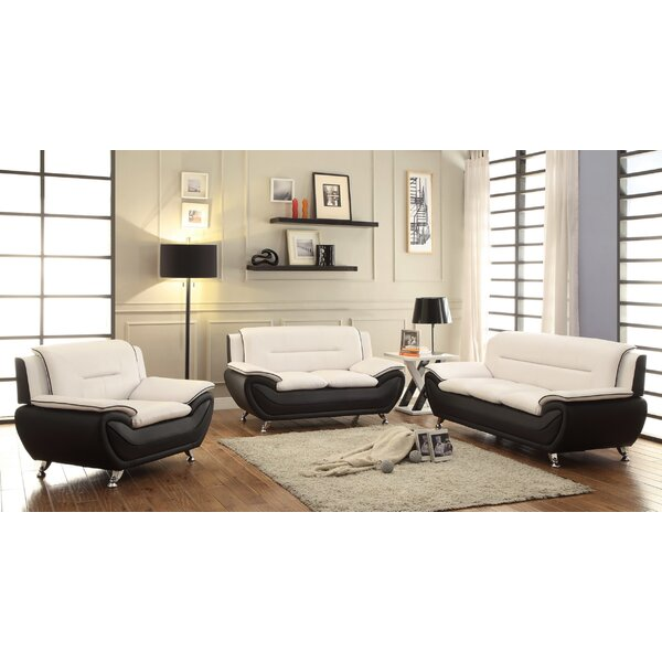 Corder 3 Piece Living Room Set by Ebern Designs