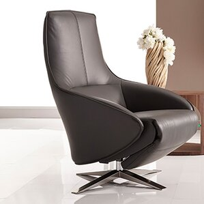 Cannella Leather Power Swivel Recliner by Be..