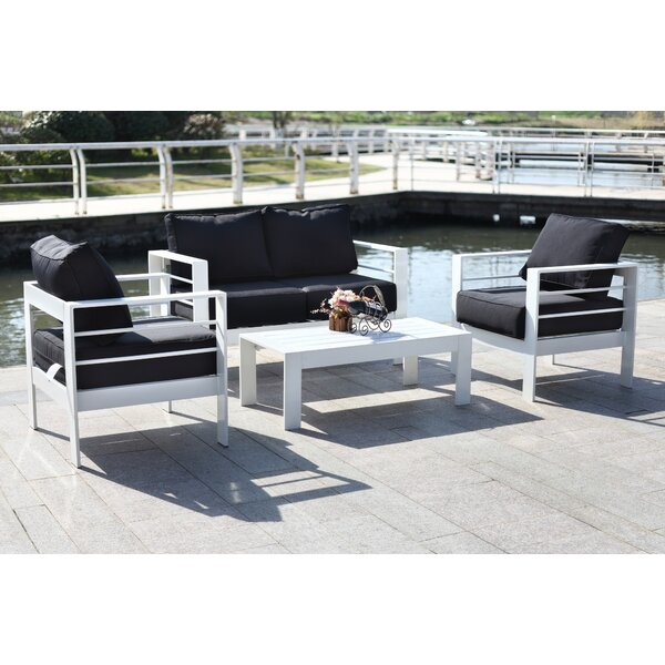 Michal 4 Piece Sofa Set with Cushions by Willa Arlo Interiors