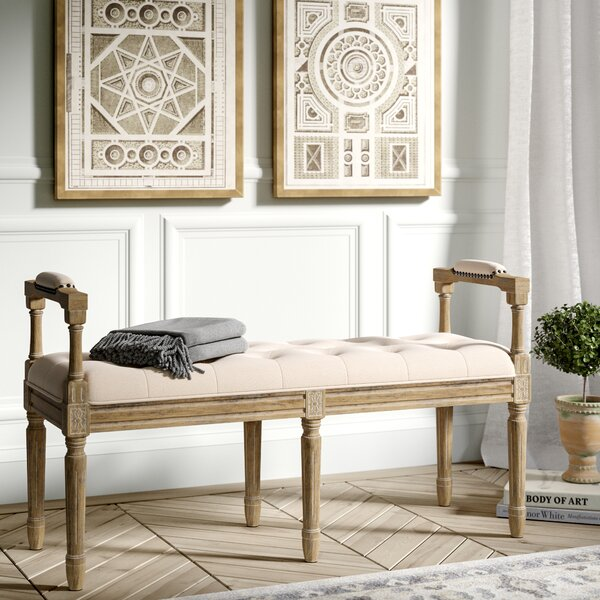 Peggy Upholstered Bench by Greyleigh