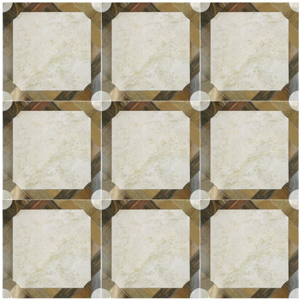 Nicolaus 17.75'' x 17.75'' Ceramic Mosaic Tile in Brown by EliteTile