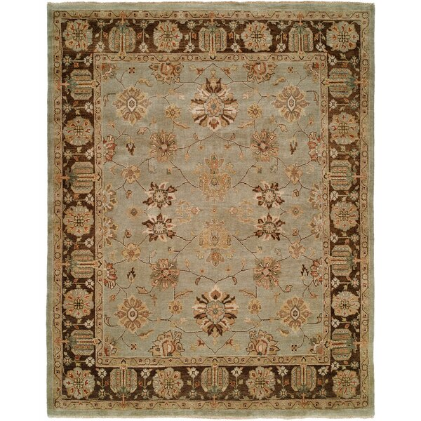 Chongqing Hand-Knotted Light Blue/Brown Area Rug by Wildon Home ®