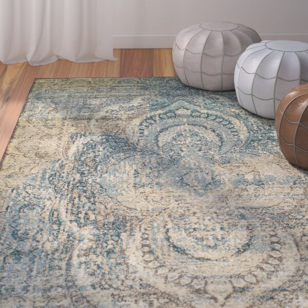 Kaetzel Beige/Blue Area Rug by World Menagerie