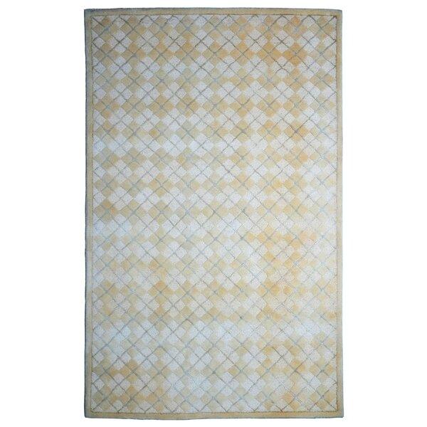 Wool/Viscose Hand-Tufted Beige/Ivory Area Rug by Eastern Weavers