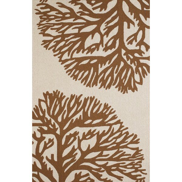 Coral Gables Hand-Woven Chocolate/Beige Indoor/Outdoor Area Rug by Panama Jack Home