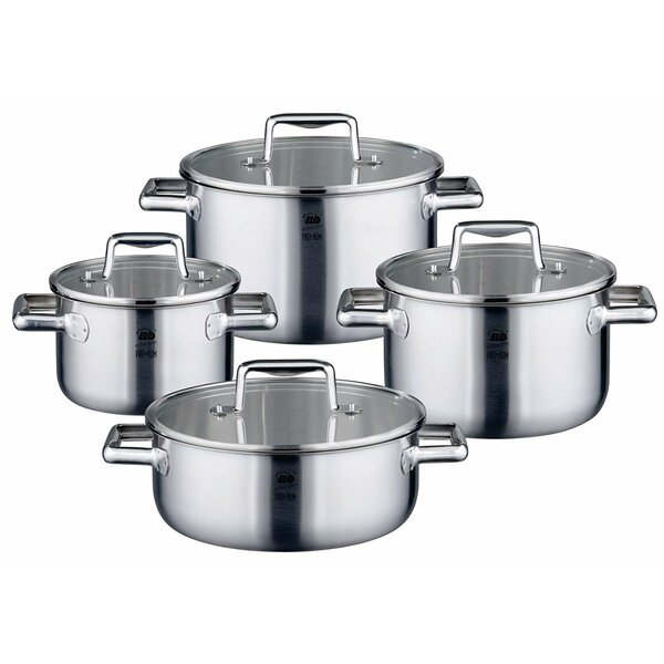 Premium 8 Piece Multilayer Stainless Steel Induction Cookware Set by Westmark