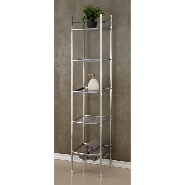5 Tier Tower 13 W x 63 H Bathroom Shelf by Fox Hill Trading