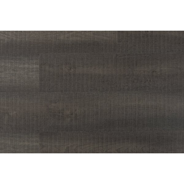 Chatman 4.75 x 48 x 12mm Oak Laminate Flooring in Charcoal by Serradon