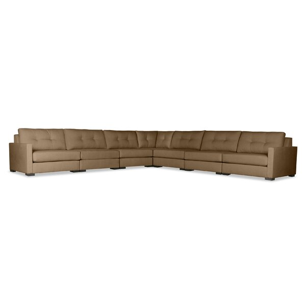 Secrest Buttoned Right and Left Arms L-Shape Modular Sectional by Brayden Studio Brayden Studio