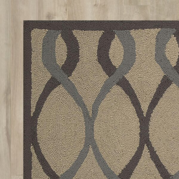 LaGuardia Hand-Tufted Taupe Area Rug by Wrought Studio