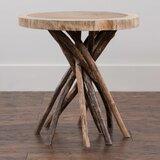 Stilwell Solid Wood Tree Stump End Table