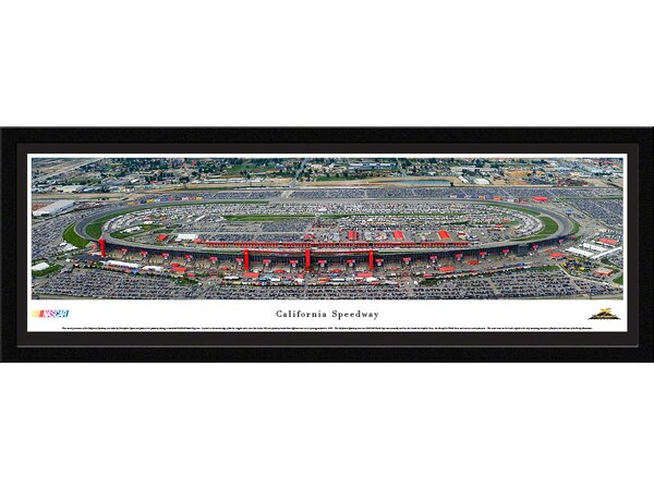 NASCAR California Speedway by Christopher Gjevre Framed Photographic Print by Blakeway Worldwide Panoramas, Inc