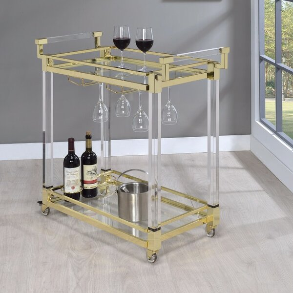 Friley Acrylic Bar Carts by Everly Quinn