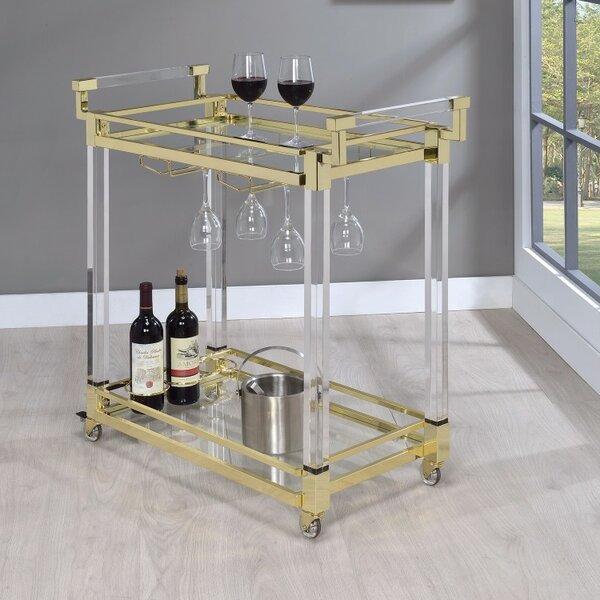 Friley Acrylic Bar Carts by Everly Quinn