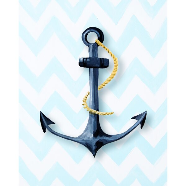 Nautical Anchor Paper Print by Cici Art Factory