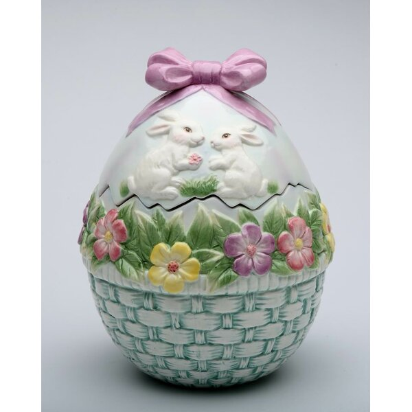 Egg Shaped Cookie Jar by Cosmos Gifts