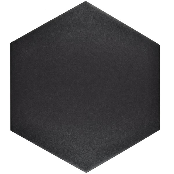 Tessile 8.63 X 9.88 Porcelain Mosaic Tile In Black By Elitetile.