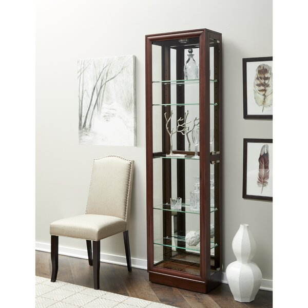 Moore Lighted Curio Cabinet by Alcott Hill Alcott Hill