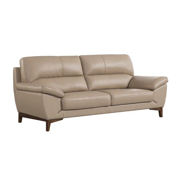 Forestport Leather Sofa By Brayden Studio