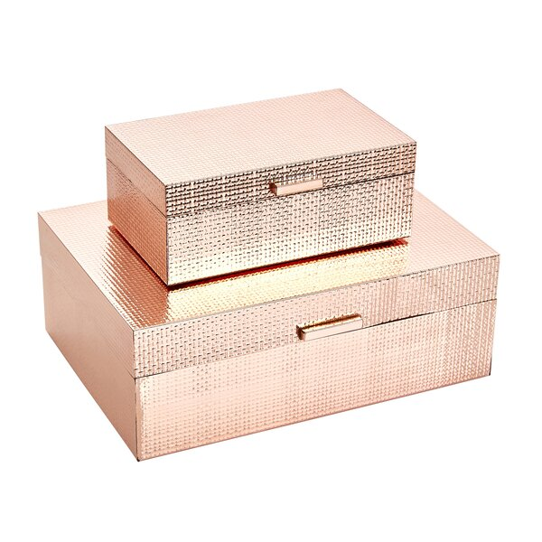Acheson 2 Piece Decorative Box Set by Rosdorf Park