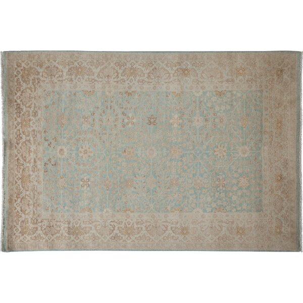 One-of-a-Kind Oushak Hand-Knotted Blue Area Rug by Darya Rugs