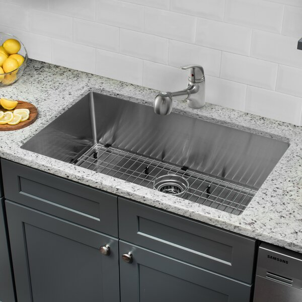 32 L x 19 W Undermount Kitchen Sink with Faucet and Soap Dispenser by Cahaba
