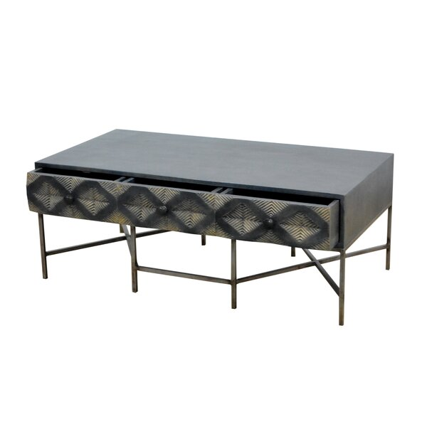 Muir Coffee Table with Storage by Wrought Studio