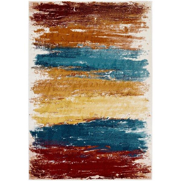 Shuff Blue/Orange Area Rug by Wrought Studio