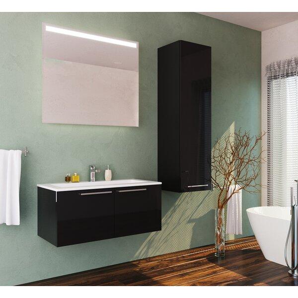 Whitehorn 39 Wall Mounted Single Bathroom Vanity Set with Mirror by Orren Ellis