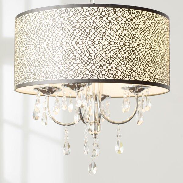 Horsham 4 - Light Shaded Drum Chandelier by Willa Arlo Interiors Willa Arlo Interiors
